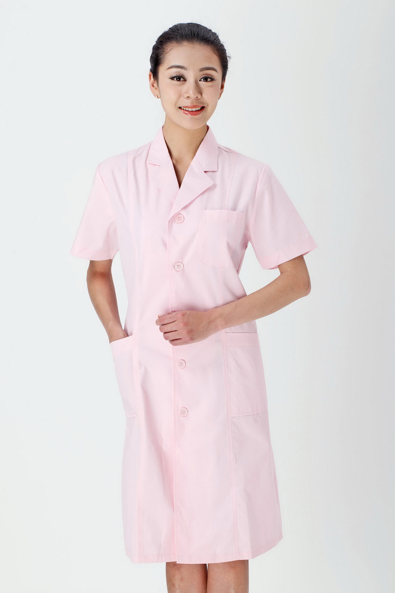 Female doctor's powder summer clothing
