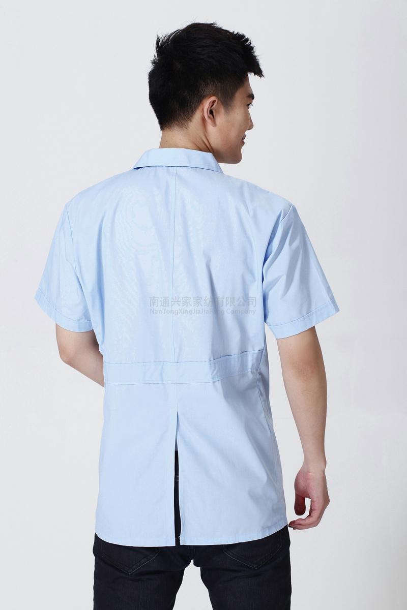 男医生服夏装短身小褂蓝色款