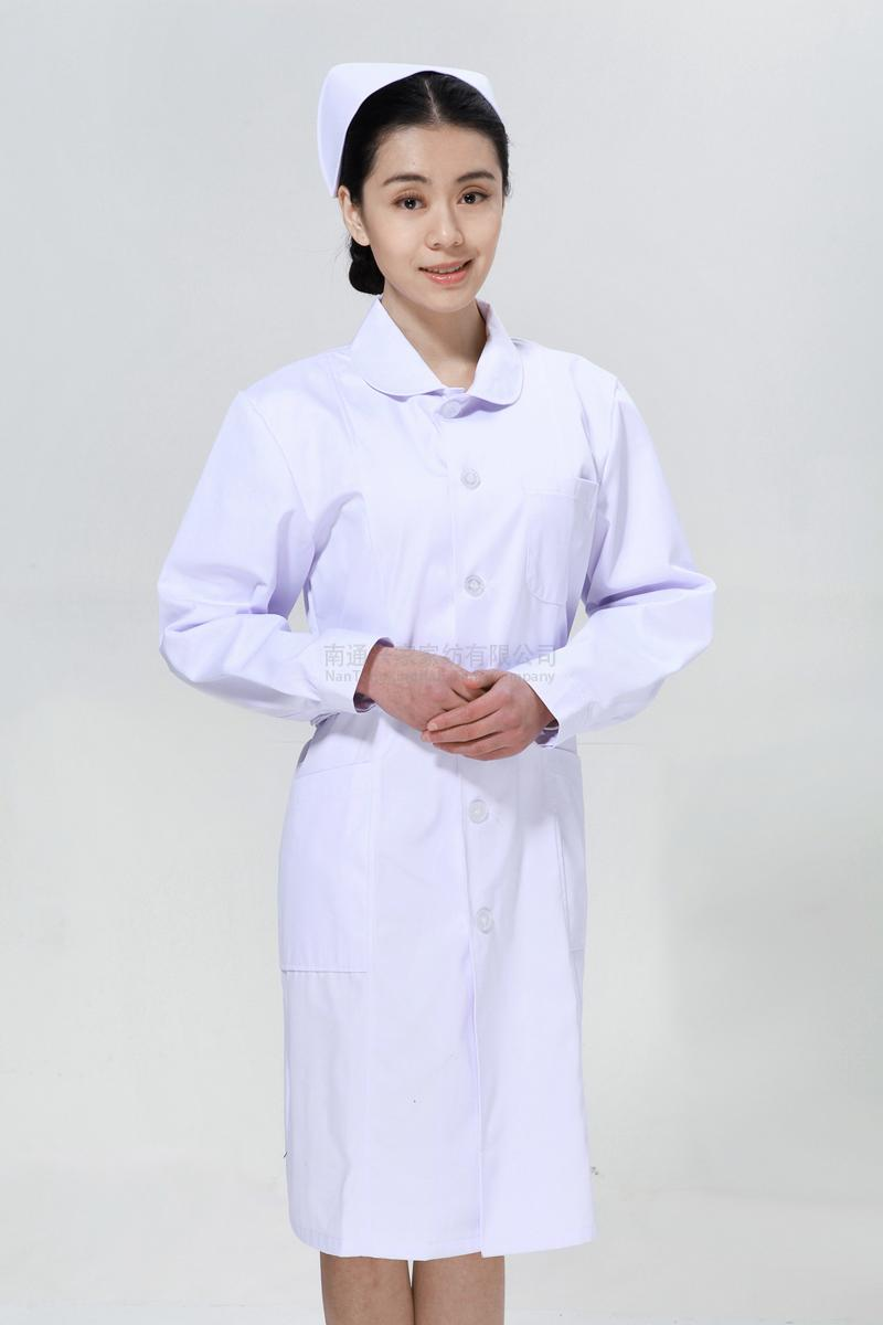 白色护士服冬款娃娃领