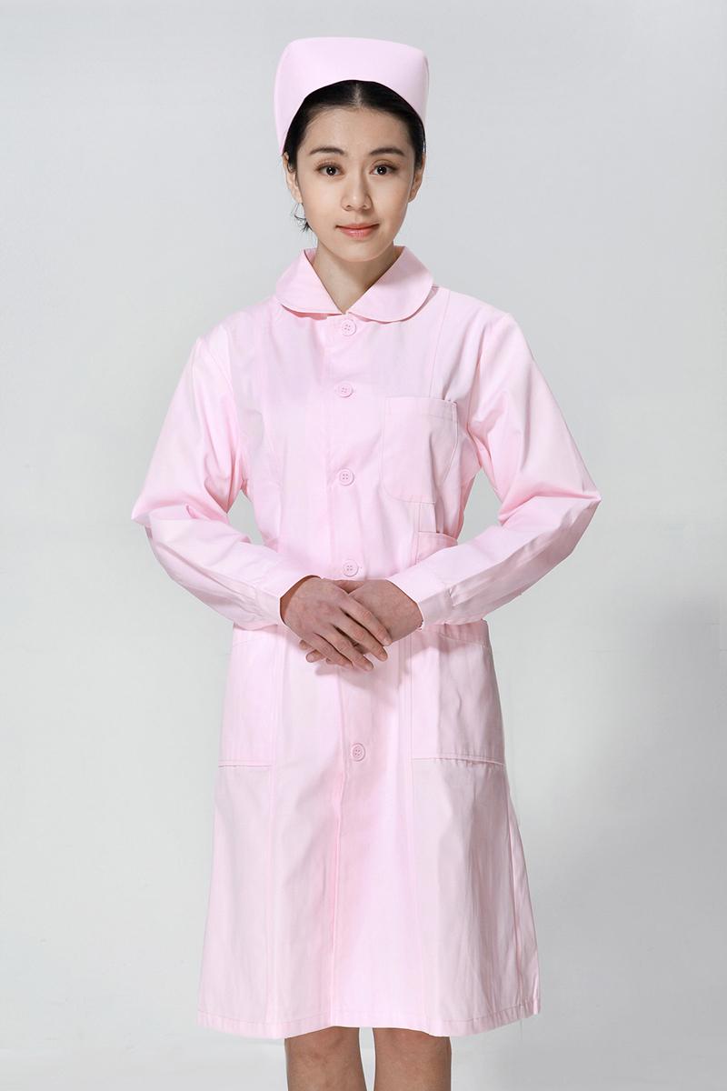 粉色护士服冬款娃娃领