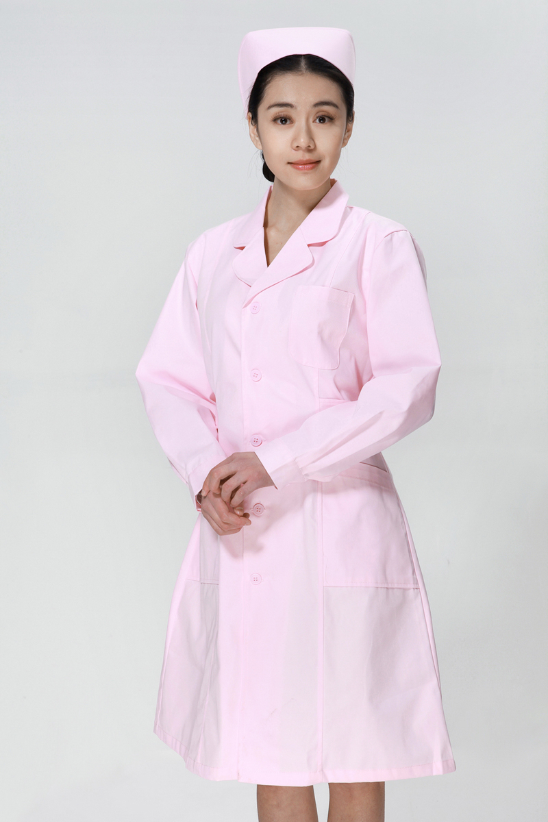 粉色护士服冬款上下圆领