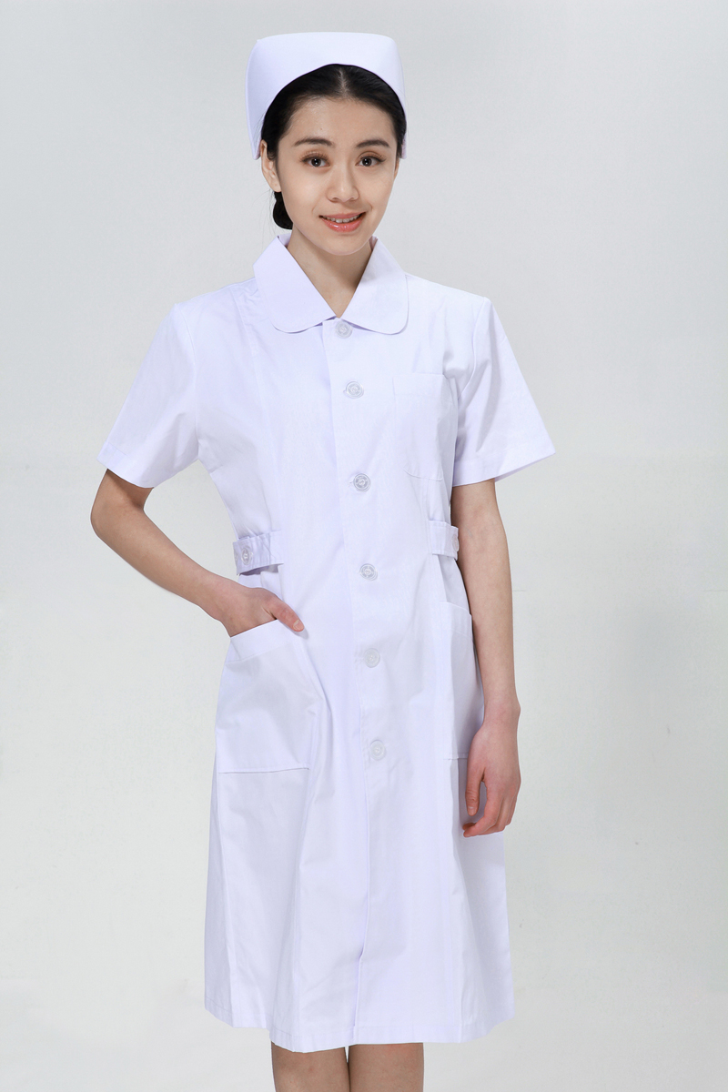 White nurse suit summer big doll collar