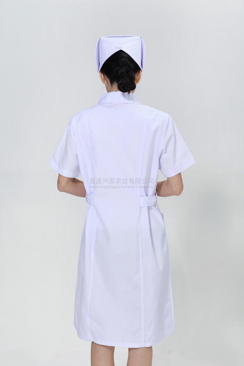 白色护士服夏款大娃娃领