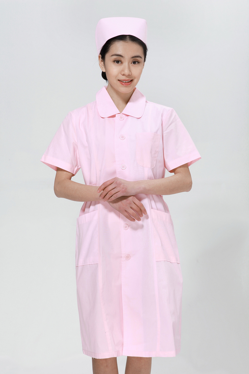 Powder nurse suit summer big doll collar