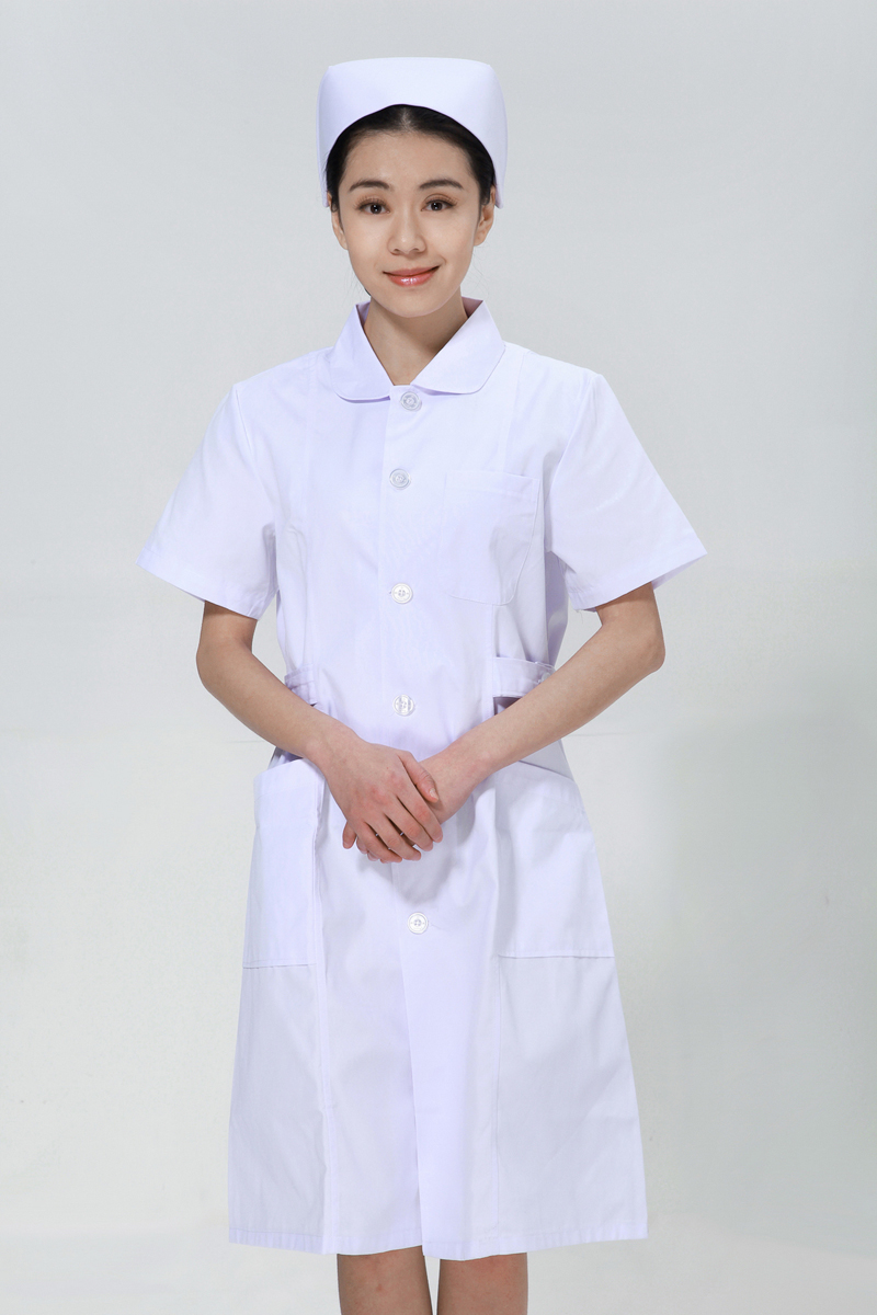 White nurse suit summer doll collar