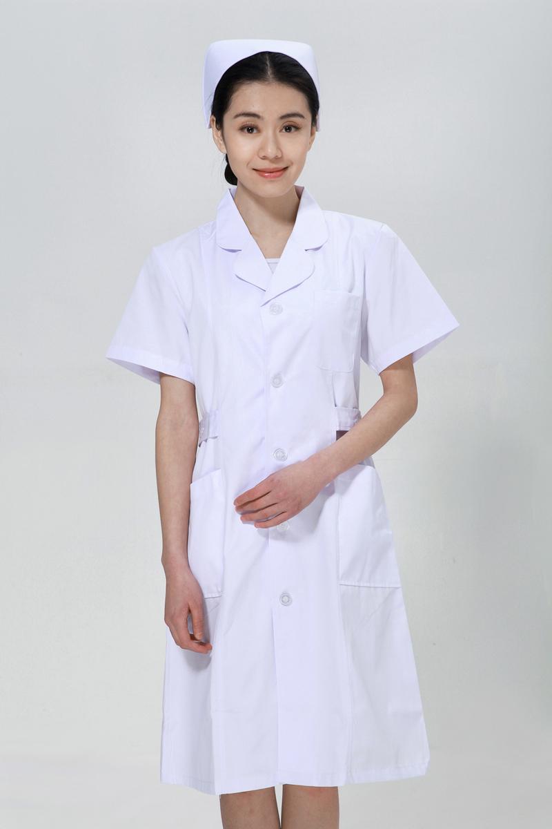 白色护士服夏款上下圆领
