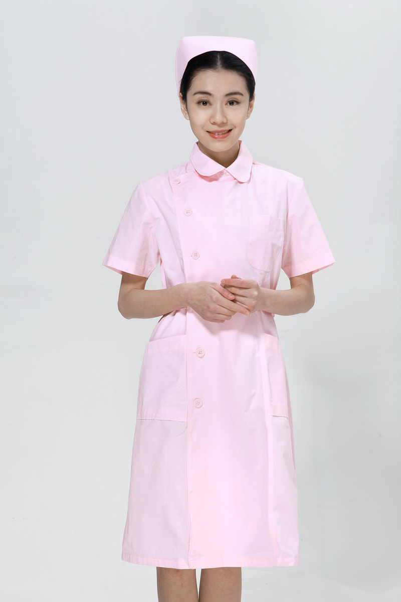 Powder collar nurse summer right side opening - copy