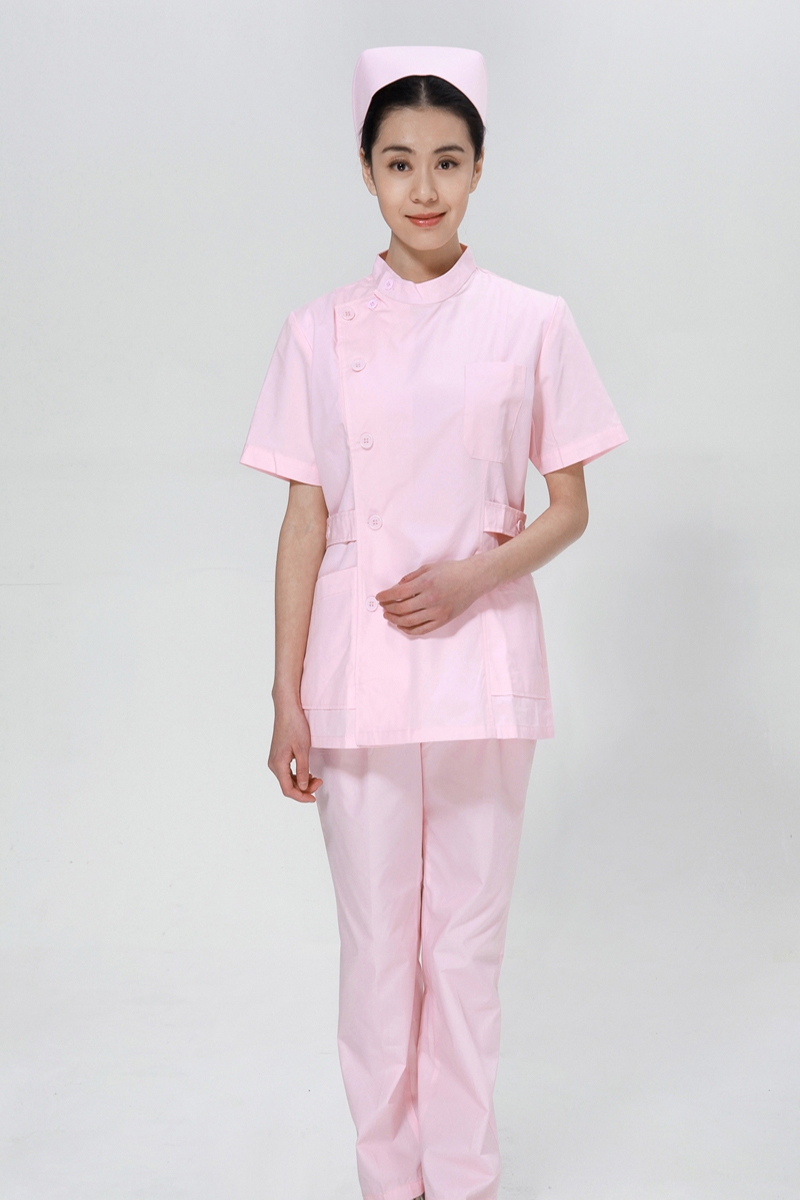 Powder nurse summer suit right side opening collar - copy
